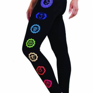 Yoga legging 'Chakra' zwart L